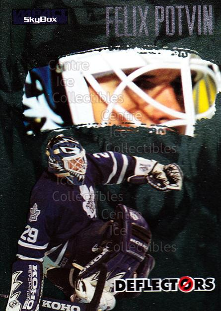 1995-96 SkyBox Impact Deflectors #3 Felix Potvin<br/>12 In Stock - $3.00 each - <a href=https://centericecollectibles.foxycart.com/cart?name=1995-96%20SkyBox%20Impact%20Deflectors%20%233%20Felix%20Potvin...&quantity_max=12&price=$3.00&code=309234 class=foxycart> Buy it now! </a>