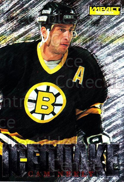 1995-96 SkyBox Impact Ice Quake #10 Cam Neely<br/>7 In Stock - $3.00 each - <a href=https://centericecollectibles.foxycart.com/cart?name=1995-96%20SkyBox%20Impact%20Ice%20Quake%20%2310%20Cam%20Neely...&quantity_max=7&price=$3.00&code=309245 class=foxycart> Buy it now! </a>