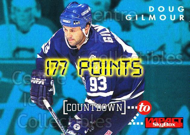1995-96 SkyBox Impact Countdown to Impact #8 Doug Gilmour<br/>13 In Stock - $3.00 each - <a href=https://centericecollectibles.foxycart.com/cart?name=1995-96%20SkyBox%20Impact%20Countdown%20to%20Impact%20%238%20Doug%20Gilmour...&quantity_max=13&price=$3.00&code=309256 class=foxycart> Buy it now! </a>
