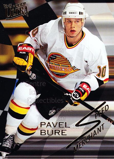 1994-95 Ultra Speed Merchants #1 Pavel Bure<br/>9 In Stock - $2.00 each - <a href=https://centericecollectibles.foxycart.com/cart?name=1994-95%20Ultra%20Speed%20Merchants%20%231%20Pavel%20Bure...&quantity_max=9&price=$2.00&code=309431 class=foxycart> Buy it now! </a>