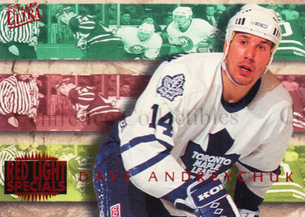 1994-95 Ultra Red Light Specials #1 Dave Andreychuk<br/>2 In Stock - $3.00 each - <a href=https://centericecollectibles.foxycart.com/cart?name=1994-95%20Ultra%20Red%20Light%20Specials%20%231%20Dave%20Andreychuk...&quantity_max=2&price=$3.00&code=309440 class=foxycart> Buy it now! </a>