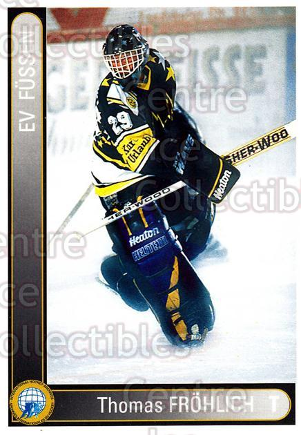 1994-95 German First League #118 Thomas Frohlich<br/>9 In Stock - $2.00 each - <a href=https://centericecollectibles.foxycart.com/cart?name=1994-95%20German%20First%20League%20%23118%20Thomas%20Frohlich...&quantity_max=9&price=$2.00&code=30958 class=foxycart> Buy it now! </a>