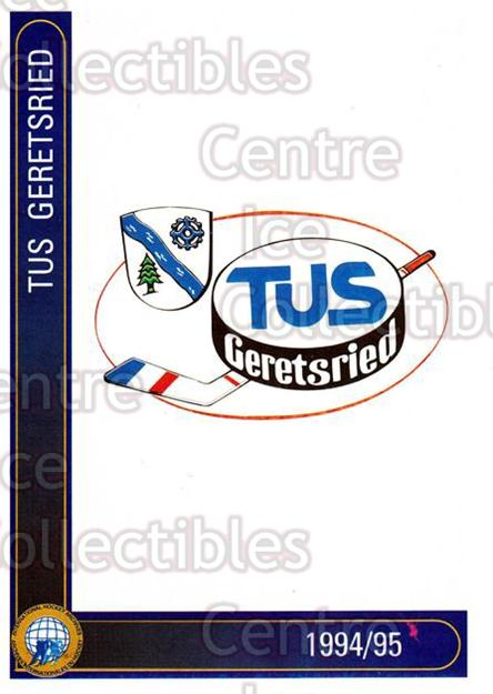 1994-95 German First League #121 Geretsried TuS<br/>9 In Stock - $2.00 each - <a href=https://centericecollectibles.foxycart.com/cart?name=1994-95%20German%20First%20League%20%23121%20Geretsried%20TuS...&quantity_max=9&price=$2.00&code=30962 class=foxycart> Buy it now! </a>
