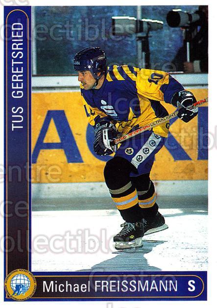 1994-95 German First League #127 Michael Freissmann<br/>15 In Stock - $2.00 each - <a href=https://centericecollectibles.foxycart.com/cart?name=1994-95%20German%20First%20League%20%23127%20Michael%20Freissm...&quantity_max=15&price=$2.00&code=30968 class=foxycart> Buy it now! </a>