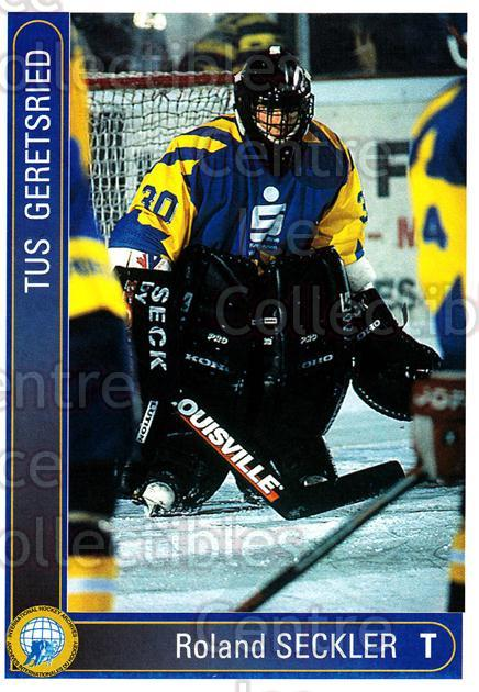 1994-95 German First League #144 Roland Seckler<br/>10 In Stock - $2.00 each - <a href=https://centericecollectibles.foxycart.com/cart?name=1994-95%20German%20First%20League%20%23144%20Roland%20Seckler...&quantity_max=10&price=$2.00&code=30986 class=foxycart> Buy it now! </a>