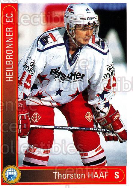 1994-95 German First League #152 Thorsten Haaf<br/>13 In Stock - $2.00 each - <a href=https://centericecollectibles.foxycart.com/cart?name=1994-95%20German%20First%20League%20%23152%20Thorsten%20Haaf...&price=$2.00&code=30994 class=foxycart> Buy it now! </a>
