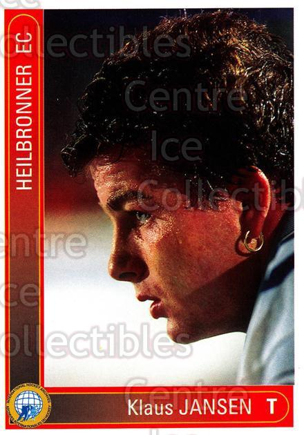 1994-95 German First League #154 Klaus Jansen<br/>8 In Stock - $2.00 each - <a href=https://centericecollectibles.foxycart.com/cart?name=1994-95%20German%20First%20League%20%23154%20Klaus%20Jansen...&quantity_max=8&price=$2.00&code=30996 class=foxycart> Buy it now! </a>
