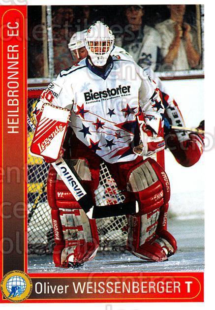1994-95 German First League #160 Oliver Weissenberger<br/>11 In Stock - $2.00 each - <a href=https://centericecollectibles.foxycart.com/cart?name=1994-95%20German%20First%20League%20%23160%20Oliver%20Weissenb...&quantity_max=11&price=$2.00&code=31002 class=foxycart> Buy it now! </a>