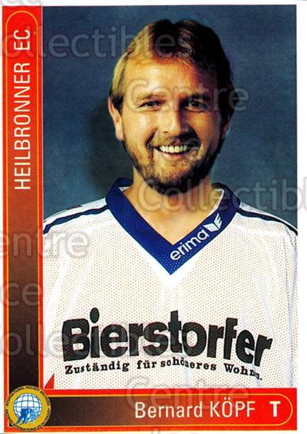 1994-95 German First League #167 Bernhard Kopf<br/>14 In Stock - $2.00 each - <a href=https://centericecollectibles.foxycart.com/cart?name=1994-95%20German%20First%20League%20%23167%20Bernhard%20Kopf...&quantity_max=14&price=$2.00&code=31009 class=foxycart> Buy it now! </a>