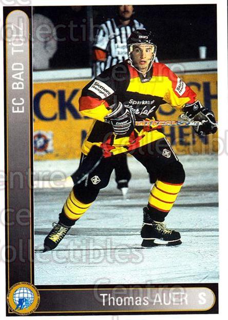 1994-95 German First League #18 Thomas Auer<br/>12 In Stock - $2.00 each - <a href=https://centericecollectibles.foxycart.com/cart?name=1994-95%20German%20First%20League%20%2318%20Thomas%20Auer...&quantity_max=12&price=$2.00&code=31023 class=foxycart> Buy it now! </a>