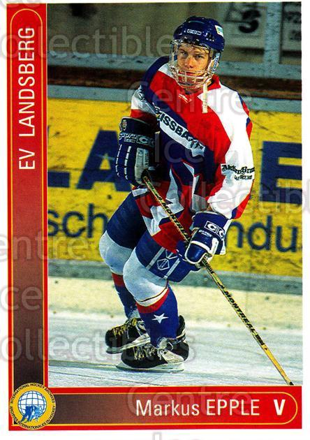1994-95 German First League #194 Markus Epple<br/>10 In Stock - $2.00 each - <a href=https://centericecollectibles.foxycart.com/cart?name=1994-95%20German%20First%20League%20%23194%20Markus%20Epple...&quantity_max=10&price=$2.00&code=31039 class=foxycart> Buy it now! </a>