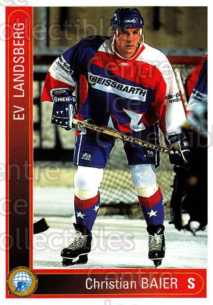 1994-95 German First League #209 Christian Baier<br/>12 In Stock - $2.00 each - <a href=https://centericecollectibles.foxycart.com/cart?name=1994-95%20German%20First%20League%20%23209%20Christian%20Baier...&quantity_max=12&price=$2.00&code=31054 class=foxycart> Buy it now! </a>