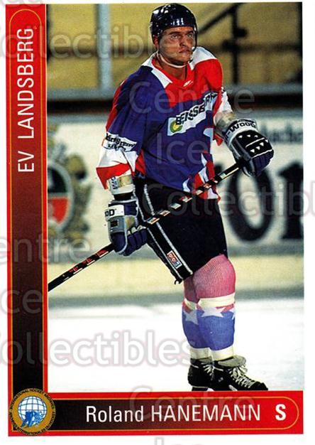 1994-95 German First League #213 Roland Hanemann<br/>7 In Stock - $2.00 each - <a href=https://centericecollectibles.foxycart.com/cart?name=1994-95%20German%20First%20League%20%23213%20Roland%20Hanemann...&quantity_max=7&price=$2.00&code=31059 class=foxycart> Buy it now! </a>