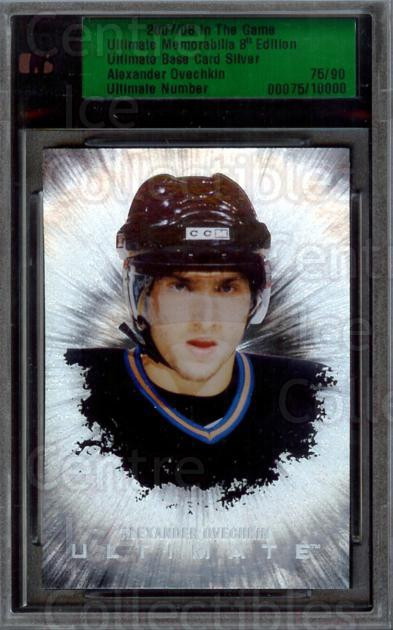 2007-08 ITG Ultimate Memorabilia 8th Ed Base Card Silver #1 Alexander Ovechkin<br/>1 In Stock - $10.00 each - <a href=https://centericecollectibles.foxycart.com/cart?name=2007-08%20ITG%20Ultimate%20Memorabilia%208th%20Ed%20Base%20Card%20Silver%20%231%20Alexander%20Ovech...&price=$10.00&code=310715 class=foxycart> Buy it now! </a>