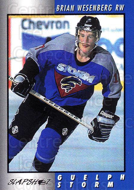 1994-95 Guelph Storm #16 Brian Wesenberg<br/>3 In Stock - $3.00 each - <a href=https://centericecollectibles.foxycart.com/cart?name=1994-95%20Guelph%20Storm%20%2316%20Brian%20Wesenberg...&quantity_max=3&price=$3.00&code=31093 class=foxycart> Buy it now! </a>