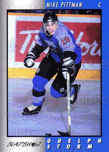 1994-95 Guelph Storm #17 Mike Pittman<br/>2 In Stock - $3.00 each - <a href=https://centericecollectibles.foxycart.com/cart?name=1994-95%20Guelph%20Storm%20%2317%20Mike%20Pittman...&quantity_max=2&price=$3.00&code=31094 class=foxycart> Buy it now! </a>