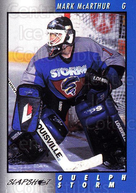 1994-95 Guelph Storm #2 Mark McArthur<br/>3 In Stock - $3.00 each - <a href=https://centericecollectibles.foxycart.com/cart?name=1994-95%20Guelph%20Storm%20%232%20Mark%20McArthur...&quantity_max=3&price=$3.00&code=31097 class=foxycart> Buy it now! </a>