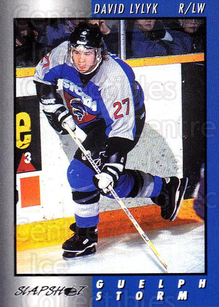 1994-95 Guelph Storm #21 David Lylyk<br/>2 In Stock - $3.00 each - <a href=https://centericecollectibles.foxycart.com/cart?name=1994-95%20Guelph%20Storm%20%2321%20David%20Lylyk...&quantity_max=2&price=$3.00&code=31099 class=foxycart> Buy it now! </a>