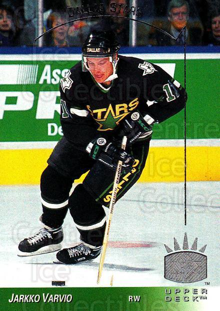 1993-94 Upper Deck SP #40 Jarkko Varvio<br/>5 In Stock - $1.00 each - <a href=https://centericecollectibles.foxycart.com/cart?name=1993-94%20Upper%20Deck%20SP%20%2340%20Jarkko%20Varvio...&quantity_max=5&price=$1.00&code=3109 class=foxycart> Buy it now! </a>