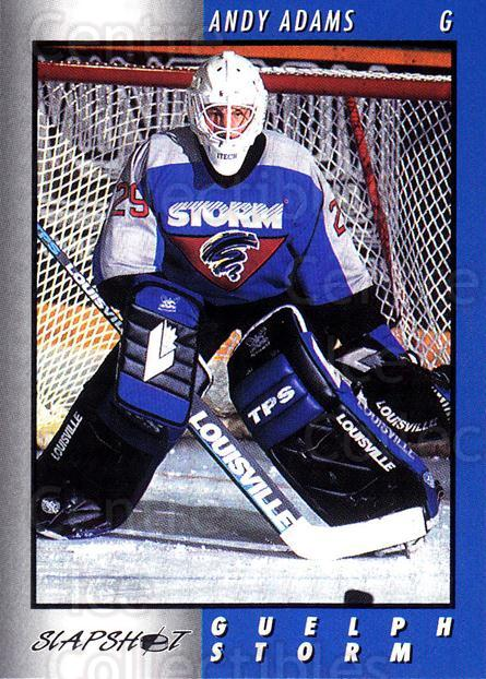 1994-95 Guelph Storm #3 Andy Adams<br/>4 In Stock - $3.00 each - <a href=https://centericecollectibles.foxycart.com/cart?name=1994-95%20Guelph%20Storm%20%233%20Andy%20Adams...&quantity_max=4&price=$3.00&code=31106 class=foxycart> Buy it now! </a>