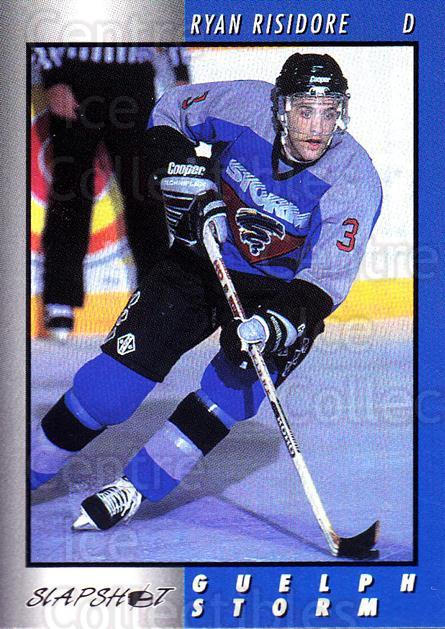1994-95 Guelph Storm #5 Ryan Risidore<br/>3 In Stock - $3.00 each - <a href=https://centericecollectibles.foxycart.com/cart?name=1994-95%20Guelph%20Storm%20%235%20Ryan%20Risidore...&quantity_max=3&price=$3.00&code=31109 class=foxycart> Buy it now! </a>