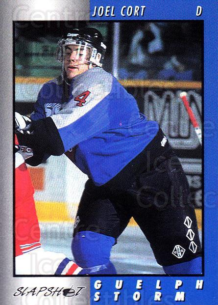1994-95 Guelph Storm #6 Joel Cort<br/>3 In Stock - $3.00 each - <a href=https://centericecollectibles.foxycart.com/cart?name=1994-95%20Guelph%20Storm%20%236%20Joel%20Cort...&quantity_max=3&price=$3.00&code=31110 class=foxycart> Buy it now! </a>