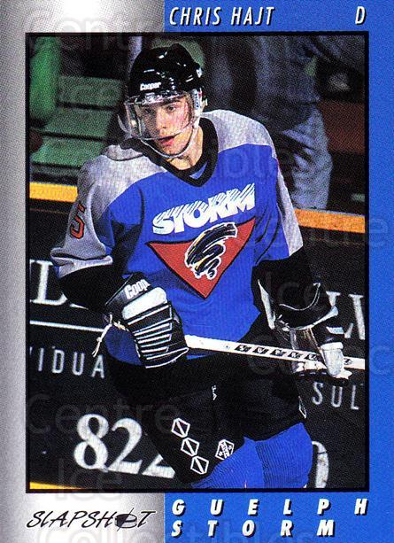 1994-95 Guelph Storm #7 Chris Hajt<br/>2 In Stock - $3.00 each - <a href=https://centericecollectibles.foxycart.com/cart?name=1994-95%20Guelph%20Storm%20%237%20Chris%20Hajt...&quantity_max=2&price=$3.00&code=31111 class=foxycart> Buy it now! </a>