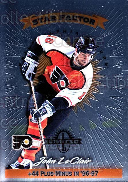 1997-98 Donruss Limited #90 John LeClair<br/>1 In Stock - $5.00 each - <a href=https://centericecollectibles.foxycart.com/cart?name=1997-98%20Donruss%20Limited%20%2390%20John%20LeClair...&quantity_max=1&price=$5.00&code=311229 class=foxycart> Buy it now! </a>