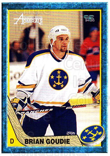 1994-95 Hampton Roads Admirals #9 Brian Goudie<br/>2 In Stock - $3.00 each - <a href=https://centericecollectibles.foxycart.com/cart?name=1994-95%20Hampton%20Roads%20Admirals%20%239%20Brian%20Goudie...&quantity_max=2&price=$3.00&code=31136 class=foxycart> Buy it now! </a>