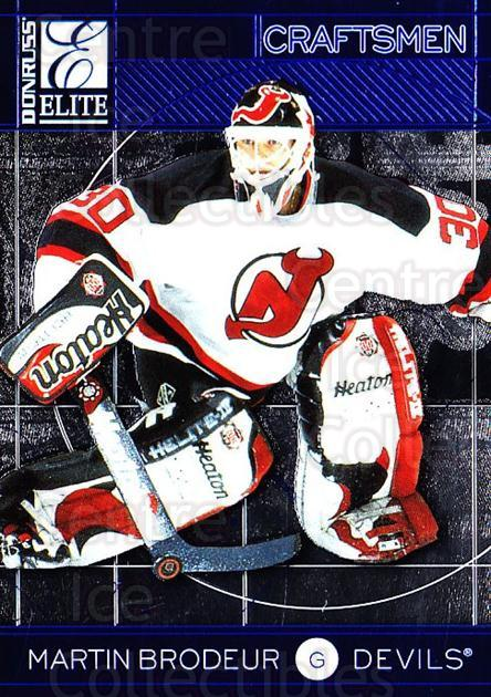1997-98 Donruss Elite Craftsmen #8 Martin Brodeur<br/>3 In Stock - $5.00 each - <a href=https://centericecollectibles.foxycart.com/cart?name=1997-98%20Donruss%20Elite%20Craftsmen%20%238%20Martin%20Brodeur...&price=$5.00&code=311610 class=foxycart> Buy it now! </a>