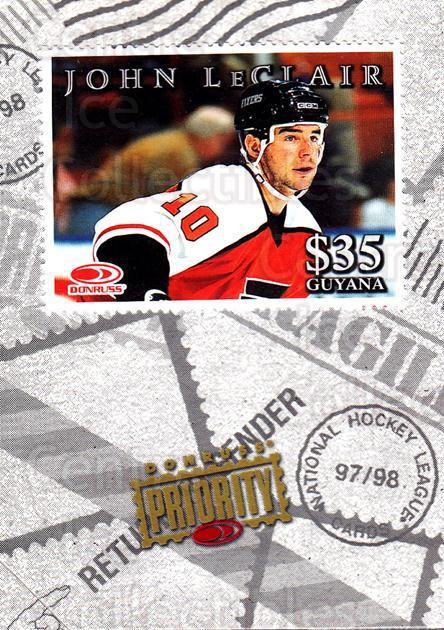 1997-98 Donruss Priority Stamps #21 John LeClair<br/>5 In Stock - $3.00 each - <a href=https://centericecollectibles.foxycart.com/cart?name=1997-98%20Donruss%20Priority%20Stamps%20%2321%20John%20LeClair...&quantity_max=5&price=$3.00&code=311841 class=foxycart> Buy it now! </a>
