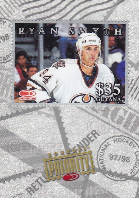 1997-98 Donruss Priority Stamps Silver #19 Ryan Smyth<br/>1 In Stock - $5.00 each - <a href=https://centericecollectibles.foxycart.com/cart?name=1997-98%20Donruss%20Priority%20Stamps%20Silver%20%2319%20Ryan%20Smyth...&quantity_max=1&price=$5.00&code=311894 class=foxycart> Buy it now! </a>