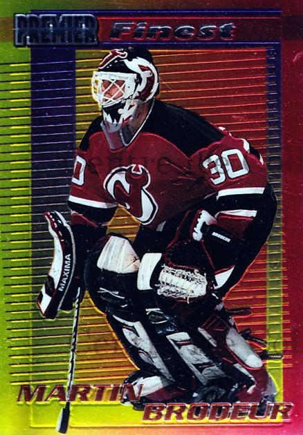 1994-95 OPC Premier Finest Inserts #14 Martin Brodeur<br/>1 In Stock - $10.00 each - <a href=https://centericecollectibles.foxycart.com/cart?name=1994-95%20OPC%20Premier%20Finest%20Inserts%20%2314%20Martin%20Brodeur...&quantity_max=1&price=$10.00&code=312017 class=foxycart> Buy it now! </a>