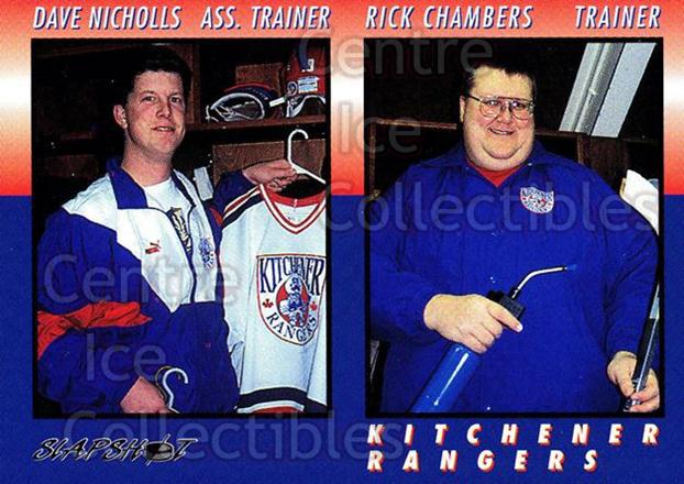 1994-95 Kitchener Rangers #29 Rick Chambers, Dave Nicholls<br/>6 In Stock - $3.00 each - <a href=https://centericecollectibles.foxycart.com/cart?name=1994-95%20Kitchener%20Rangers%20%2329%20Rick%20Chambers,%20...&quantity_max=6&price=$3.00&code=31201 class=foxycart> Buy it now! </a>
