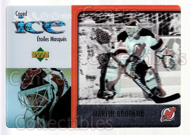 1997-98 McDonalds Upper Deck #25 Martin Brodeur<br/>9 In Stock - $2.00 each - <a href=https://centericecollectibles.foxycart.com/cart?name=1997-98%20McDonalds%20Upper%20Deck%20%2325%20Martin%20Brodeur...&price=$2.00&code=312224 class=foxycart> Buy it now! </a>