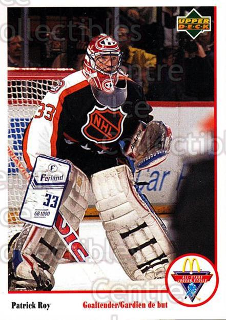 1991-92 McDonald's Upper Deck #8 Patrick Roy<br/>15 In Stock - $2.00 each - <a href=https://centericecollectibles.foxycart.com/cart?name=1991-92%20McDonald's%20Upper%20Deck%20%238%20Patrick%20Roy...&price=$2.00&code=312229 class=foxycart> Buy it now! </a>