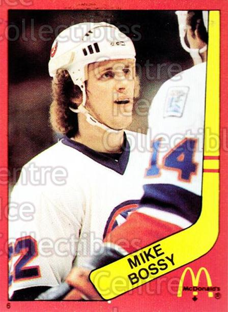 1982-83 McDonalds Stickers #6 Mike Bossy<br/>3 In Stock - $2.00 each - <a href=https://centericecollectibles.foxycart.com/cart?name=1982-83%20McDonalds%20Stickers%20%236%20Mike%20Bossy...&price=$2.00&code=312232 class=foxycart> Buy it now! </a>