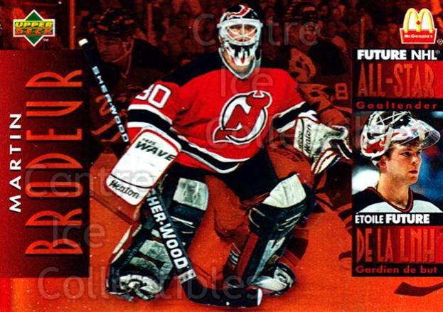 1994-95 McDonalds Upper Deck #35 Martin Brodeur<br/>9 In Stock - $2.00 each - <a href=https://centericecollectibles.foxycart.com/cart?name=1994-95%20McDonalds%20Upper%20Deck%20%2335%20Martin%20Brodeur...&price=$2.00&code=312241 class=foxycart> Buy it now! </a>