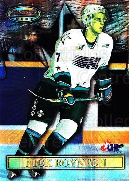 1997 Bowman CHL Bowmans Best Atomic Refractors #6 Nick Boynton<br/>2 In Stock - $5.00 each - <a href=https://centericecollectibles.foxycart.com/cart?name=1997%20Bowman%20CHL%20Bowmans%20Best%20Atomic%20Refractors%20%236%20Nick%20Boynton...&quantity_max=2&price=$5.00&code=312304 class=foxycart> Buy it now! </a>