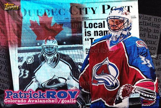 1998-99 Topps Local Legends #8 Patrick Roy<br/>1 In Stock - $10.00 each - <a href=https://centericecollectibles.foxycart.com/cart?name=1998-99%20Topps%20Local%20Legends%20%238%20Patrick%20Roy...&quantity_max=1&price=$10.00&code=312365 class=foxycart> Buy it now! </a>
