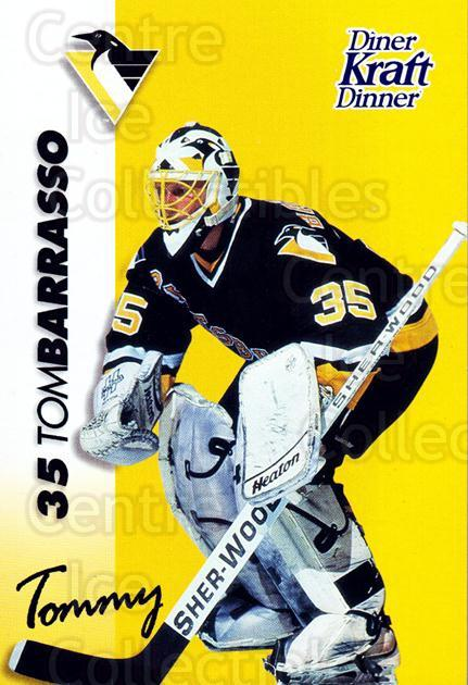 1994-95 Kraft Dinner Masked Defenders #1 Tom Barrasso<br/>2 In Stock - $3.00 each - <a href=https://centericecollectibles.foxycart.com/cart?name=1994-95%20Kraft%20Dinner%20Masked%20Defenders%20%231%20Tom%20Barrasso...&price=$3.00&code=31236 class=foxycart> Buy it now! </a>