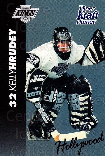 1994-95 Kraft Dinner Masked Defenders #12 Kelly Hrudey<br/>3 In Stock - $3.00 each - <a href=https://centericecollectibles.foxycart.com/cart?name=1994-95%20Kraft%20Dinner%20Masked%20Defenders%20%2312%20Kelly%20Hrudey...&quantity_max=3&price=$3.00&code=31245 class=foxycart> Buy it now! </a>