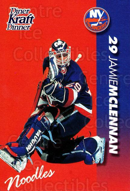 1994-95 Kraft Dinner Masked Defenders #17 Jamie McLennan<br/>4 In Stock - $3.00 each - <a href=https://centericecollectibles.foxycart.com/cart?name=1994-95%20Kraft%20Dinner%20Masked%20Defenders%20%2317%20Jamie%20McLennan...&quantity_max=4&price=$3.00&code=31249 class=foxycart> Buy it now! </a>