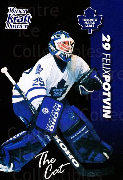 1994-95 Kraft Dinner Masked Defenders #19 Felix Potvin<br/>1 In Stock - $3.00 each - <a href=https://centericecollectibles.foxycart.com/cart?name=1994-95%20Kraft%20Dinner%20Masked%20Defenders%20%2319%20Felix%20Potvin...&quantity_max=1&price=$3.00&code=31251 class=foxycart> Buy it now! </a>