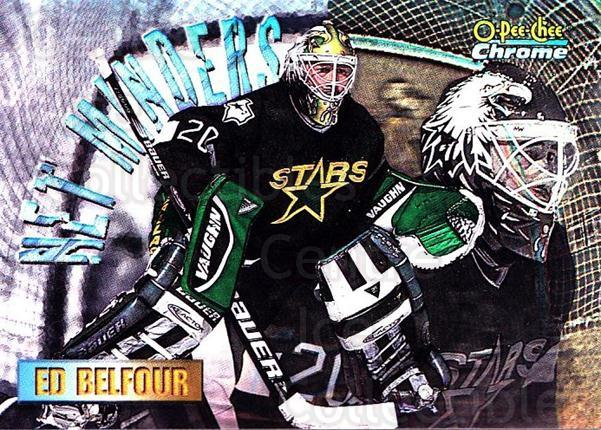 1998-99 O-Pee-Chee Chrome Seasons Best Refractors #3 Ed Belfour<br/>1 In Stock - $10.00 each - <a href=https://centericecollectibles.foxycart.com/cart?name=1998-99%20O-Pee-Chee%20Chrome%20Seasons%20Best%20Refractors%20%233%20Ed%20Belfour...&quantity_max=1&price=$10.00&code=312537 class=foxycart> Buy it now! </a>
