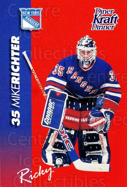 1994-95 Kraft Dinner Masked Defenders #22 Mike Richter<br/>1 In Stock - $3.00 each - <a href=https://centericecollectibles.foxycart.com/cart?name=1994-95%20Kraft%20Dinner%20Masked%20Defenders%20%2322%20Mike%20Richter...&quantity_max=1&price=$3.00&code=31254 class=foxycart> Buy it now! </a>
