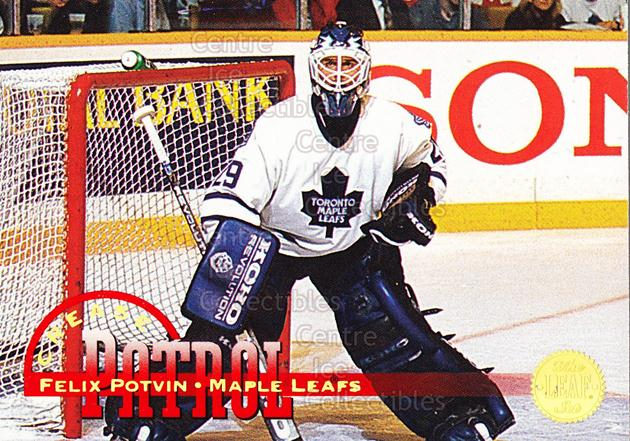 1994-95 Leaf Crease Patrol #4 Felix Potvin<br/>26 In Stock - $2.00 each - <a href=https://centericecollectibles.foxycart.com/cart?name=1994-95%20Leaf%20Crease%20Patrol%20%234%20Felix%20Potvin...&quantity_max=26&price=$2.00&code=31298 class=foxycart> Buy it now! </a>