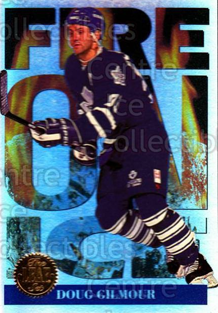 1994-95 Leaf Fire on Ice #5 Doug Gilmour<br/>6 In Stock - $3.00 each - <a href=https://centericecollectibles.foxycart.com/cart?name=1994-95%20Leaf%20Fire%20on%20Ice%20%235%20Doug%20Gilmour...&quantity_max=6&price=$3.00&code=31306 class=foxycart> Buy it now! </a>