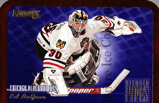 1995-96 Donruss Between The Pipes #10 Ed Belfour<br/>1 In Stock - $3.00 each - <a href=https://centericecollectibles.foxycart.com/cart?name=1995-96%20Donruss%20Between%20The%20Pipes%20%2310%20Ed%20Belfour...&price=$3.00&code=313159 class=foxycart> Buy it now! </a>