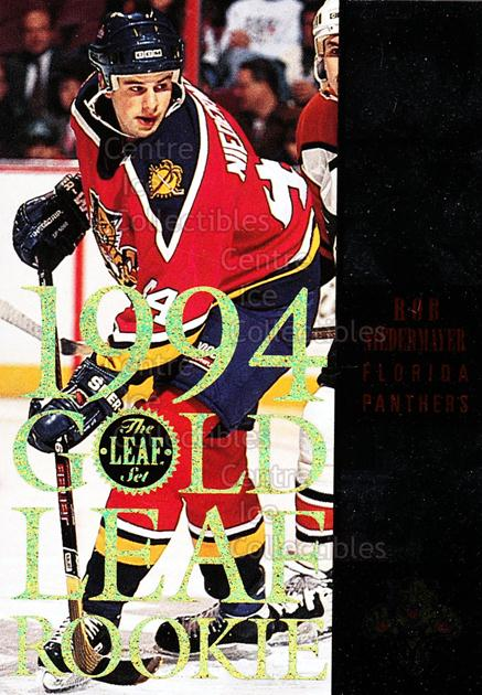 1994-95 Leaf Gold Leaf Rookies #7 Rob Niedermayer<br/>8 In Stock - $3.00 each - <a href=https://centericecollectibles.foxycart.com/cart?name=1994-95%20Leaf%20Gold%20Leaf%20Rookies%20%237%20Rob%20Niedermayer...&quantity_max=8&price=$3.00&code=31317 class=foxycart> Buy it now! </a>